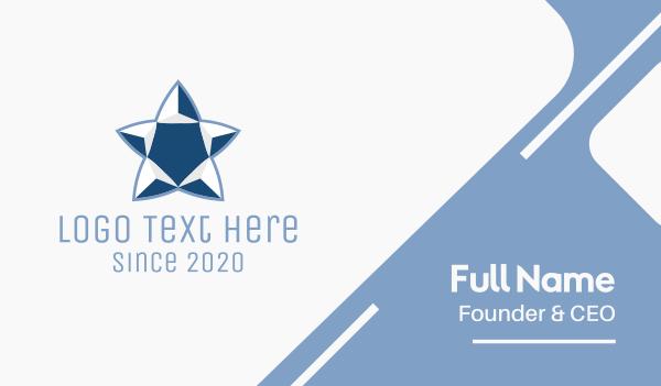 ac - Corporate Blue Star Business card horizontal design