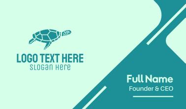 Teal Sea Turtle  Business Card