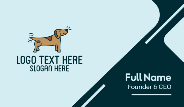 pet care - Happy Dog Tail Wag Business card horizontal design