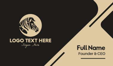 Zebra Safari Business Card