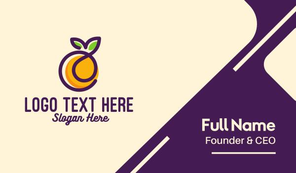 organic fruit - Fresh Orange Fruit Business card horizontal design