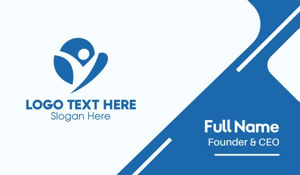 foundations - Blue Human Cloud  Business card horizontal design