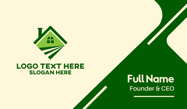 turf - Green Field House Business card horizontal design