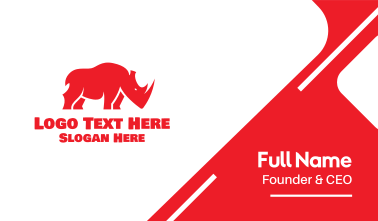 Wild Red Rhino Business Card
