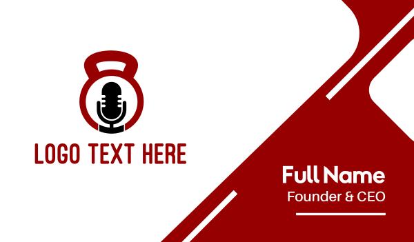 keto - Fitness Podcast Radio Microphone Business card horizontal design