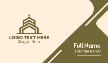 Bronze Religious Church Business Card