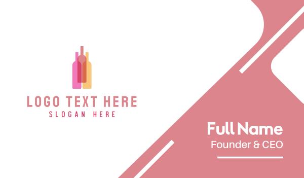 bachelorette - Wine Bottles Business card horizontal design