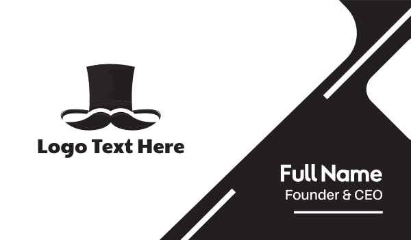 waiter - Mister Top Hat Business card horizontal design
