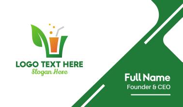 Green Leaf Juice  Business Card
