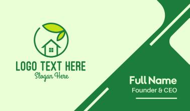Green Leaf Home Realtor Business Card