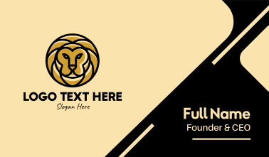 Gold Lion Business Card