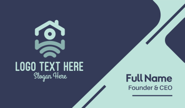 Blue House Wi-fi Business Card