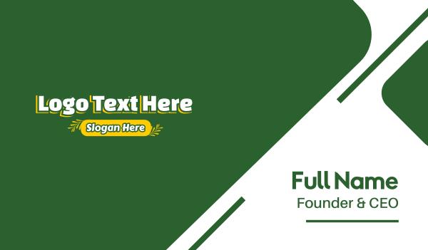 hemp - Leaves Text Business card horizontal design