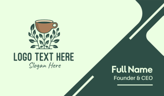 Coffee Cup Plant Business Card