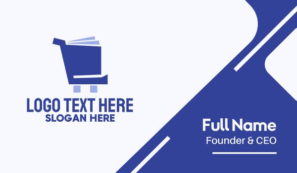 bucketlist - Book Cart Business card horizontal design
