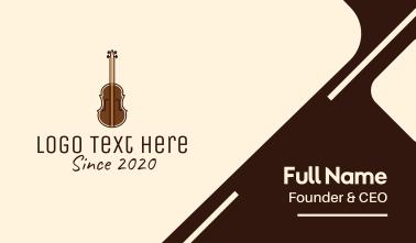 Brown Violin Music Shool Business Card
