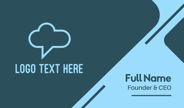 talk bubble - Chat Cloud Business card horizontal design