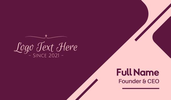 beauty vlog - Simple Script Feminine Text Business card horizontal design