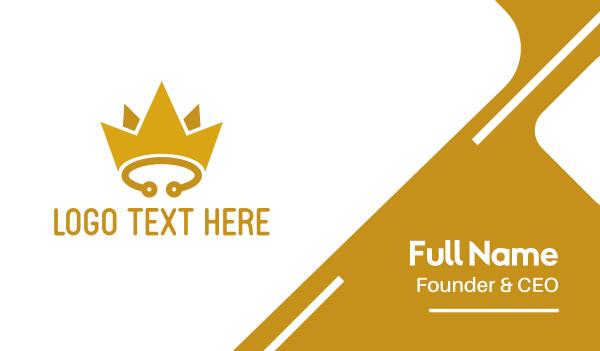 headdress - Yellow Circuit Crown Business card horizontal design