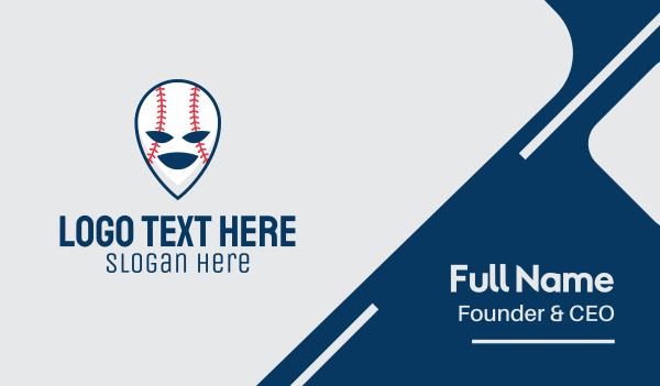 baseball tournament - Baseball Softball Mascot  Business card horizontal design