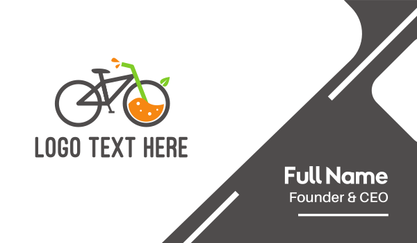 bike - Bicycle Juice Business card horizontal design