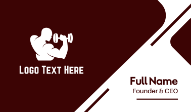 Man & Weights Fitness Business Card