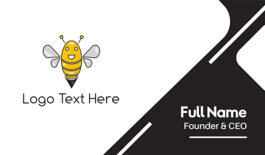 Happy Bee Business Card