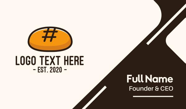 hashtag - Hashtag Bakery Bread Business card horizontal design