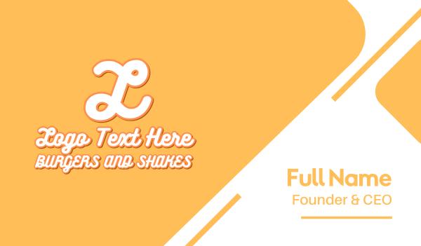 milkshake - Burgers & Shakes Text Letter Business card horizontal design