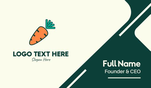 healthy food - Orange Organic Carrot Business card horizontal design