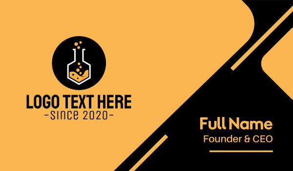 mixture - Laboratory Experiment Flask Business card horizontal design