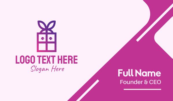 violet - Violet Present Gift Box Business card horizontal design