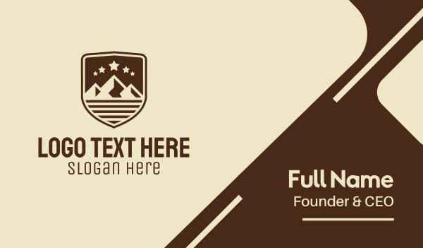scouts - Mountain Shield Business card horizontal design