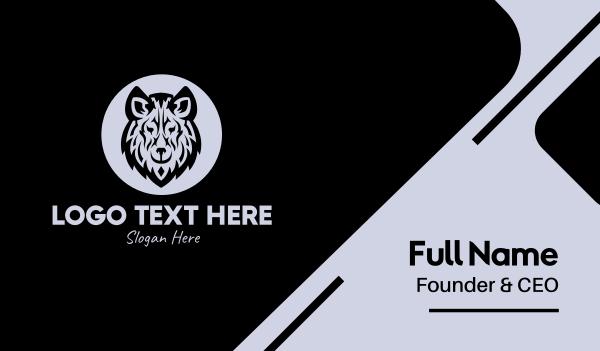 werewolf - Wild Wolf Business card horizontal design