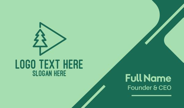 eco park - Forest Media  Business card horizontal design