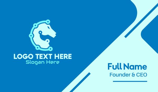 stallion - Tech Horse Business card horizontal design