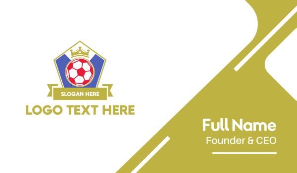 soccer - Sport Soccer Emblem  Business card horizontal design
