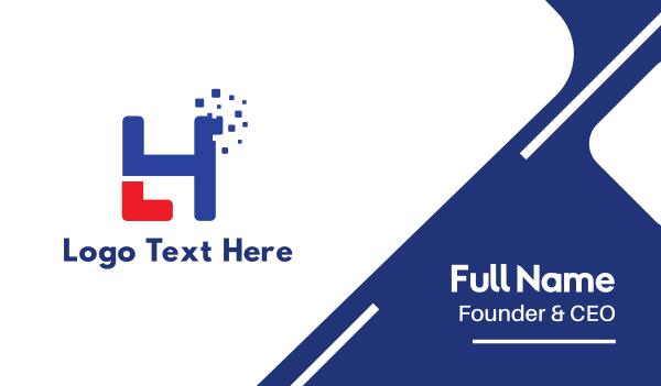 headhunter - Pixelated H Business card horizontal design