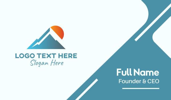 sunlight - Blue Mountain Outdoor Business card horizontal design