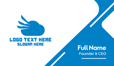 Blue Cloud Wing Business Card