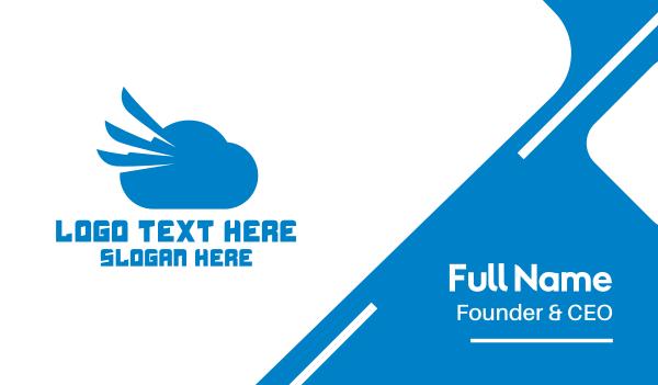forecast - Blue Cloud Wing Business card horizontal design