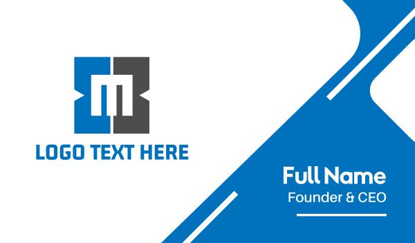 metro - Letter M Square Business card horizontal design
