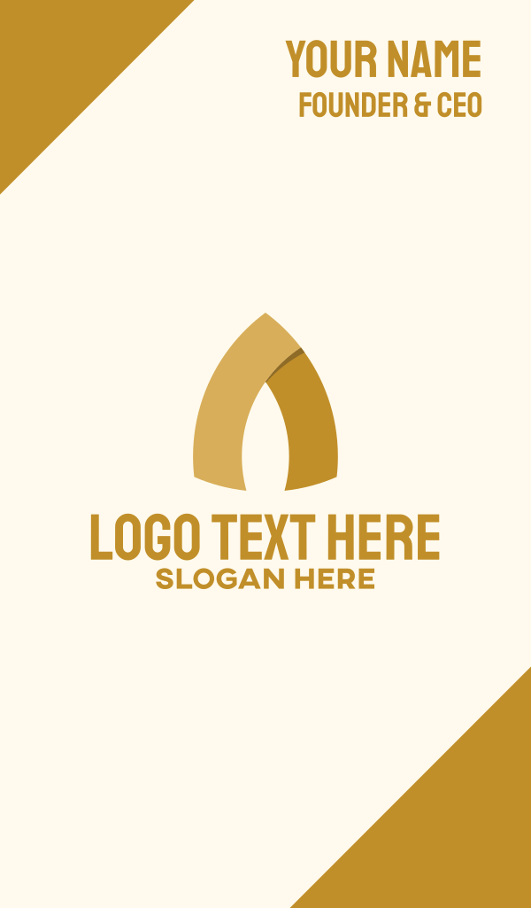 Gold Arch Letter A Business Card