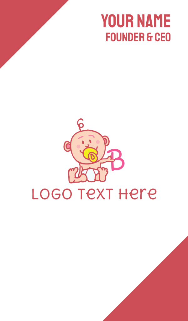 Baby & Letter B Business Card
