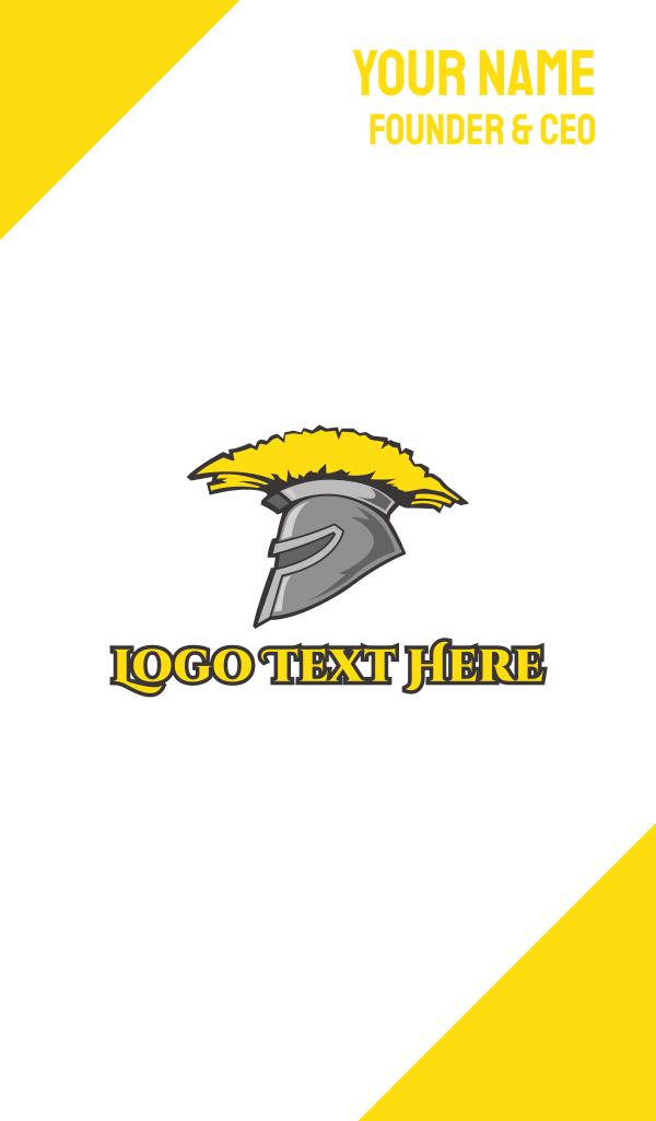 Spartan Yellow Helmet Business Card