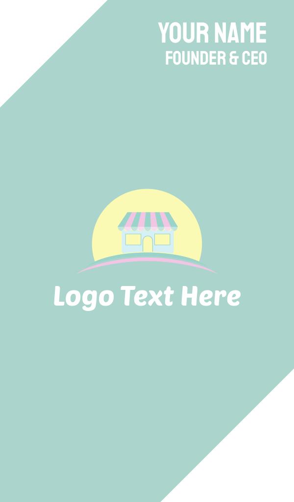 Cute Store & Sun Business Card