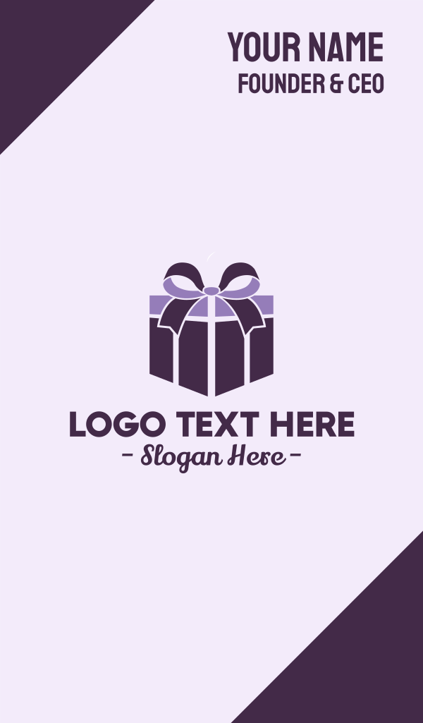 Purple Gift Present Business Card
