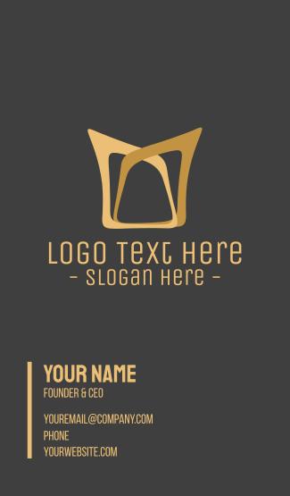 Golden Elegant Crown Business Card