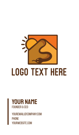 Snake Desert Dune Business Card