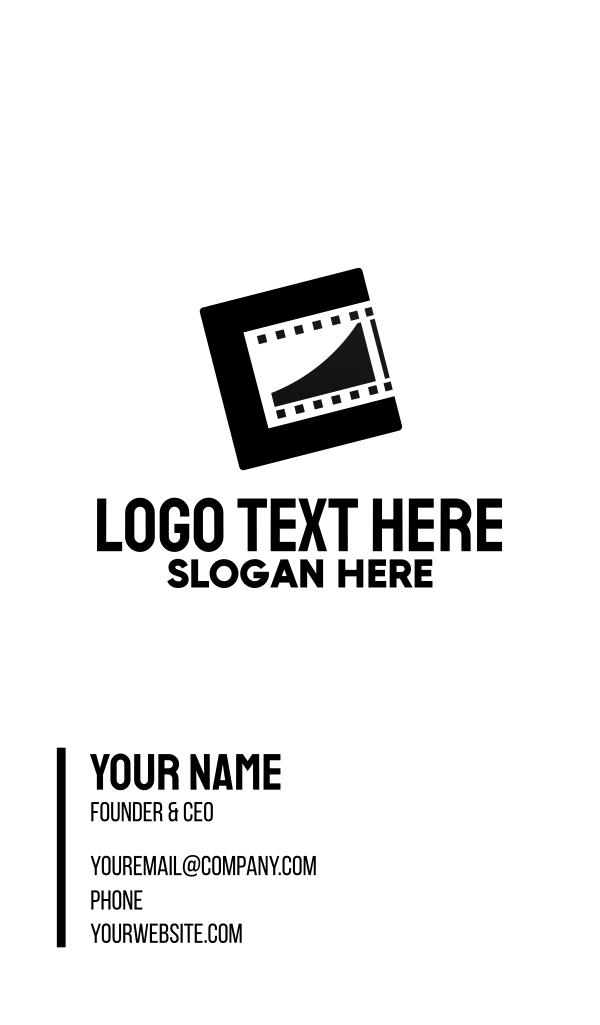 Modern Film Reel Business Card